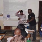 Durante o curso de Tratamento das Fracturas em Pediatria, Kalukembe, 2015